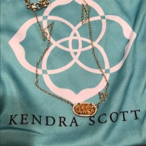 Kendra Scott gold druzy necklace😍❤️